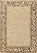 Finesse Outdoor Rug - Scroll - Coffee