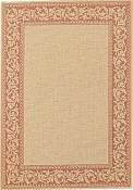 Scroll Terra Cotta Outdoor Rug - 5ft 3in by 7ft 6in