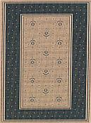 Bouquet Loden Green Outdoor Rug - 7ft 10in by 11ft