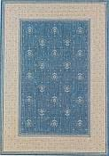 Bouquet Blue Outdoor Rug - 5ft 3in by 7ft 6in