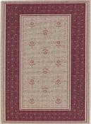 Finesse Outdoor Rug - Bouquet - Cranberry
