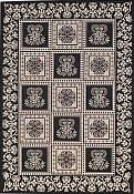 Williamsburg Black Outdoor Rug - 5ft 3in by 7ft 6in