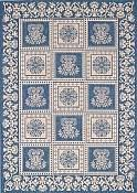 Williamsburg Blue Outdoor Rug - 7ft 10in by 11ft