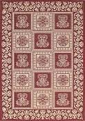 Williamsburg Cranberry Outdoor Rug - 5ft 3in by 7ft 6in