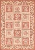 Williamsburg Terra Cotta Outdoor Rug - 5ft 3in by 7ft 6in