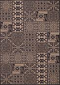 Elements Black Outdoor Rug - 5ft 3in by 7ft 6in