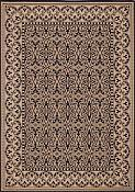 Filigree Black Outdoor Rug - 2ft 7in by 8ft 10in