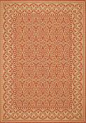 Filigree Terracotta Outdoor Rug - 2ft 7in by 8ft 10in