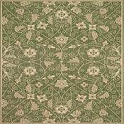 Finesse Garden Maze Outdoor Rug - 7ft 10in x 11ft - Leaf Green