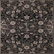 Finesse Garden Maze Outdoor Rug - 7ft 10in x 11ft - Black