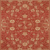 Finesse Garden Maze Outdoor Rug - 5ft 3in x 7ft 6in - Red