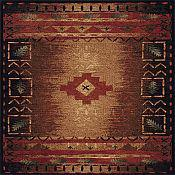 Fresh Air Brown Multi-Color Outdoor Rug - 5ft 3in x 7ft 6in