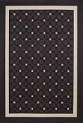 Seabreeze Checks Charcoal Rug - 3ft 11in by 5ft 6in
