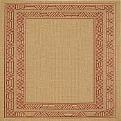 Seabreeze Millstone Outdoor Rugs - Red