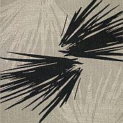 Seabreeze Palm Shade Rug - Black