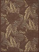Seabreeze Palms Chocolate Rug - 7ft 10in by 10ft 10in