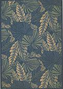 Seabreeze Outdoor Rug - Palms - Denim