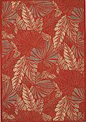 Seabreeze Outdoor Rug - Palms - Redwood