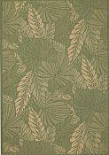 Seabreeze Palms Spruce Rug -2ft 7in by 8ft 10in