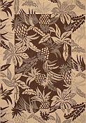 Seabreeze Pineapple Chocolate Rug - 2ft 7in by 8ft 10in