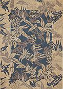Seabreeze Pineapple Denim Rug - 7ft 10in by 10ft 10in