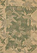 Seabreeze Pineapple Spruce Rug - 2ft 7in by 8ft 10in