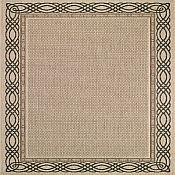 Seabreeze Spiral Rug - Cream - 3ft 11in by 5ft 6in
