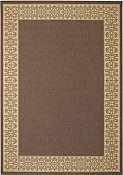 Solaria Dresden Outdoor Rug - 7ft 10in x 11ft  - Cocoa