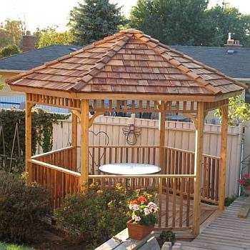 Hexagon Cedar Gazebo Kit - 10ft