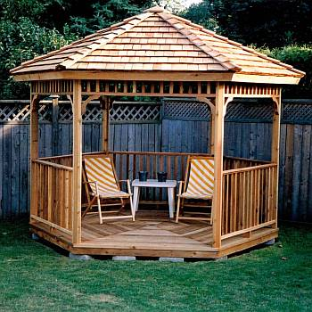 Hexagon Cedar Gazebo Kit - 8ft