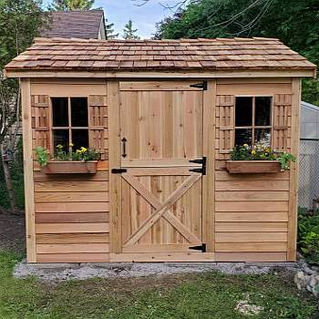 Cabana Storage Shed Kit 10ft x 8ft - Cedar