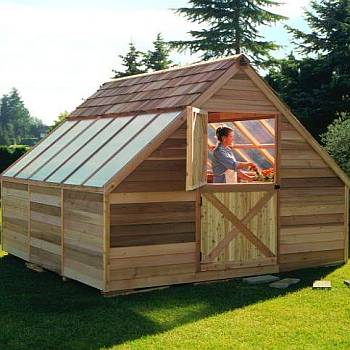 Cedar Greenhouse Kit - 12ft x 12ft