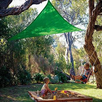 Green Kool Colors Party Sail - Triangle - 9ft 10in