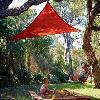 Red Kool Colors Party Sail - Triangle - 9ft 10in