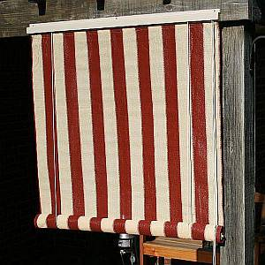 Roll Up Shade - Heritage Red 8x6