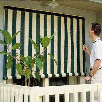 Outdoor Solar Shades and  Patio Sun Shade - Custom Sizes Made - Roller or Crank or Motorized.