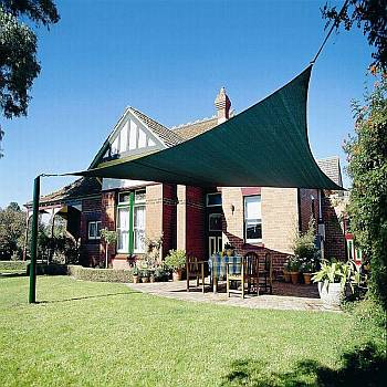 Shade Sails - Triangle Brunswick Green  Coolaroo 9ft 10in