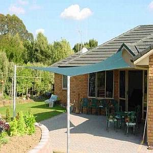 Shade Sails - Square Brunswick Green Coolaroo 11ft 10in
