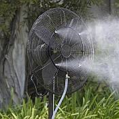 Misting Fans Improve the Quality of Outdoor Living
