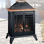 Deck Companion Electric Fireplace