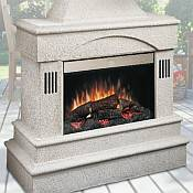 Rocklin Electric Fireplace with Speakers