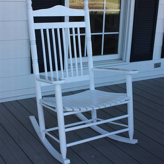 Adult Spindle Back Outdoor Rocking Chair