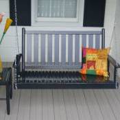 Wooden Outdoor Porch Swing by Dixie Seating Company