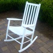 Adult High Back Slat Rocker