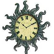 Freestanding Southwestern Style Outdoor Clock