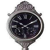 Freestanding Antique Silver Clock