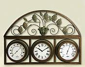 Grapevine Design Temperature Gauge with Clock