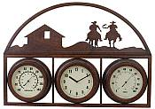 Western Design Temperature Gauge with Clock