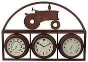 Tractor Design Temperature Gauge with Clock