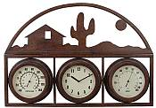 Home on the Range Design Temperature Gauge with Clock